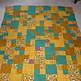 Boyds Bears flannel raggy quilt