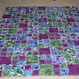 Monet Watercolor Flannel raggy quilt