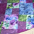 Monet watercolor flannel raggy quilt backside