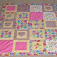 Butterfly bug girl quilt