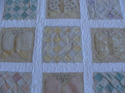 Butterfly quilt redo close up 2