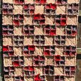 Reds flannel raggy quilt
