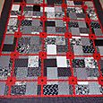Red, black and white quilted 2