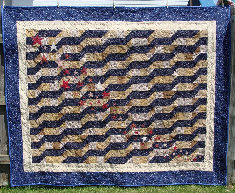 Americanna antiqued quilt 2