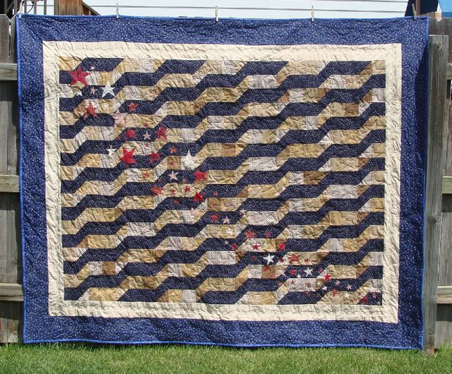 Americanna antiqued quilt
