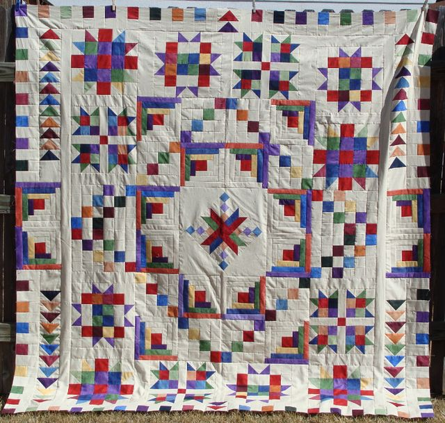 Shadowplay quilt top